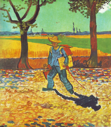Painter on his way to work_van gogh