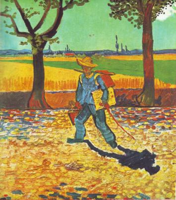 Painter on his way to work_van gogh
