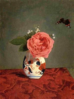 garden-rose-and-blue-forget-me-nots-in-a-vase.jpg!Blog